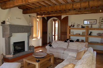 Living room at the Italian Villa available for your holiday rental
