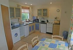 Kitchen area at Mandallagh Cottage in the Isle of Skye, Scotland